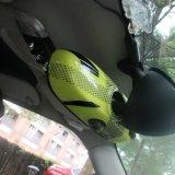 Крышка зеркала brandnew миниого типа юниона джек ABS бондаря пластичного желтого нутряная для миниого бондаря F56 F55 (1 PCS/Set)