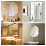 espejo de la pared del cuarto de baño de Frameless Edgeworked del vidrio de flotador de 2mm-8m m para la fuente del hotel