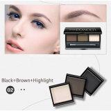 Gama de colores del sombreador de ojos del color del polvo 3 de la sombra de ojo de los cosméticos