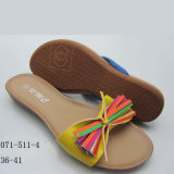 Plastic Girl Beautiful Dress PVC Sandal OEM Deslizador / Flip-Flop