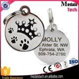 Bone Shape Blue Glitter Silver Metal Blank Tags pour chiens Vente en gros