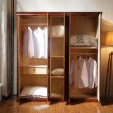 Шкаф твердого грецкого ореха шкафа спальни деревянный (GSP9-021)