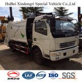 6cbm Dongfeng 유로 4 유압 후방 선적 압축 쓰레기 트럭