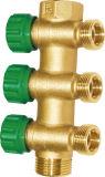 Encaixe do aquecimento Underfloor, válvula de esfera 5-Way de bronze