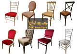 Metallhochzeit Chiavari Stuhl mit Kissen