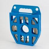 Fita de aço inoxidável no distribuidor plástico