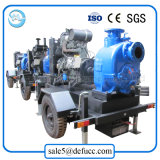 Máquina accionada por el motor diesel de la bomba de la basura del oscurecimiento del uno mismo de 3 pulgadas