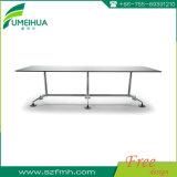 Table de conférence de bureau de haute qualité avec base de soutien durable en acier inoxydable