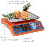 Escala de la tabla electrónica digital que se utiliza en los alimentos Supermaket 15kg