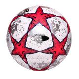 光沢があるPUによって薄板にされるカスタム革サッカーボール
