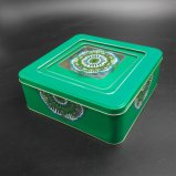 Square Window Tin Can / Gifts Can / Metal Box (S007-V2)