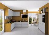 Armadio da cucina di legno della lacca bianca Stream-Lined alla moda