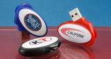 주문 로고 인쇄를 가진 플라스틱 타원형 모양 USB 섬광 드라이브