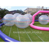 Pista de raza inflable modificada para requisitos particulares de bola de Zorb del color, pista de aire inflable