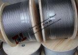 câble de l'acier inoxydable 6X19s-Iwrc