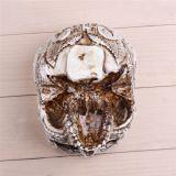 Hogar humano tallado mano decorativa del crisol del cráneo de la resina de la maceta de la planta