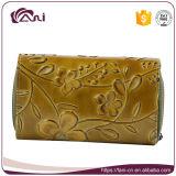 Польза женщины бумажника PU печати цветка роскошная