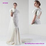 ein königliches wulstiges Schleife-Serien-Hochzeits-Kleid mit mehrschichtigen Hülsen