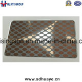 Plaque repérée de luxe de feuille de modèle d'acier inoxydable pour l'ascenseur