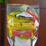 Sacchetto trasparente del quadrato della parte inferiore piana di abitudine BOPP per la caramella, regalo, alimento, sacchetto del pane con autoadesivo