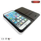 PU+Glitter Demin iPhone6/6s/6p/7/7s/7p를 위한 직물에 의하여 접히는 전화 상자