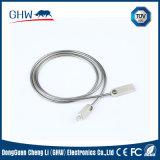 Câble d'alimentation en alliage de zinc d'USB avec la qualité 2.1A