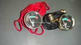 Механически аппаратура/метр/термометр/датчик температуры/индикатор/амперметр/измеряя аппаратура/манометр