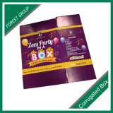 Caixa de transporte ondulada colorida para a festa de Natal
