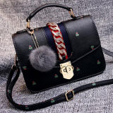 모피 공 부속품 Sy8057를 가진 2017의 신식 숙녀 핸드백 형식 디자인 어깨에 매는 가방