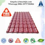 Couleur vivante ASA PVC Revêtement de toit ondulé Teinture teinté Toile en résine Toile