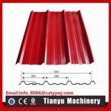 Profil en acier de panneau de tuile de toit en métal laminant à froid formant la machine