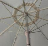 Parapluie en aluminium extérieur extérieur du patio 240cm*8k avec des côtes de fibre de verre, polyester 100% (rouge)