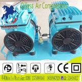 compresor de aire rotatorio sin aceite del tornillo de 50L 2X550W Refrigaration