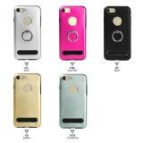 Aluminio TPU de Shs con el sostenedor 2 del anillo de 360 grados en 1 caja del teléfono celular para el iPhone 7