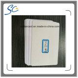 Карточка стандартного размера кредита пластичная пустая с стикером