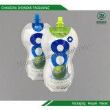 口の液体の薄板にされたプラスチック包装を用いる袋を立てなさい