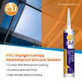 Sealant силикона высокого качества погодостойкmNs слипчивый для плиты Skylight PVC
