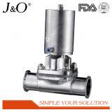 Válvula de diafragma sanitária pneumática do aço inoxidável com atuador