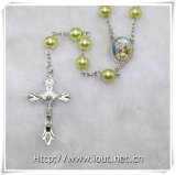 rosari di plastica dei branelli di 8mm, rosari cattolici, punto religioso (IO-cr385)