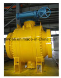 El borde del API 6D de la fábrica de China forjó la vávula de bola de acero del muñón