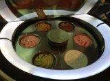 香港の円形のアイスクリームのショーケース