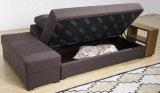 Raumersparnis Furnishing Two Folded Sofabed mit einem Wooden Shelf und 2 Boxes