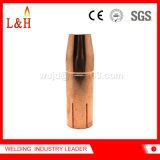 Boquilla de gas estándar de la extremidad de la soldadura Al2300/Aw2500 para el soplete de Fronius