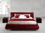 最新のデザイン安く現代標準部屋の家具の革ベッド