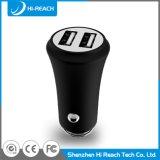 заряжатель USB автомобиля мобильного телефона алюминиевого сплава 3.1A двойной