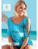 Maglietta collegata senza bretelle delle donne stampata piuma calda europea di vendita breve
