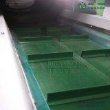 Pelotillas plásticas que hacen la máquina para reciclar el material de la espuma