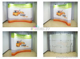 Banco di mostra stampato tessuto unito di riciclaggio conveniente di mostra di POP di tensionamento IN SU