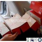 Rectángulo de regalo de papel plegable con la maneta de la cinta