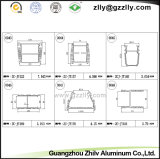 벽 세탁기 빛을%s 알루미늄 밀어남 또는 단면도 횡단면적인 전망